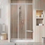 Dušo sienelė stacionari Ravak 10PS-100 blizgiu profiliu ir skaidriu stiklu (derinant su dušo durimis  10DP2 sukuriama dušo erdvė)