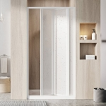 Dušo durys SDZ3-80 baltas/ plastikas