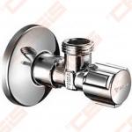 """Žalvarinis chromuotas (blizgus) SCHELL ventilis skalbimo mašinai Dn1/2"""" x 3/4"""""""