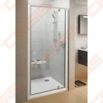 Varstomos dušo durys RAVAK PIVOT PDOP1-80 su blizgiu spalvos profiliu ir skaidriu stiklu