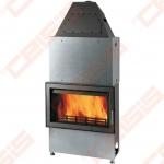 Plieninis židinio ugniakuras HAAS+SOHN NOVARA 17 (778 x 1720 x 566); 5,1-17,4kW; (šilumokaitis 10,8kW)