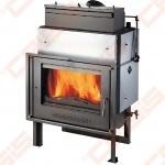 Plieninis židinio ugniakuras HAAS+SOHN VESUVIO 15 (769 x 1197 x 639); 6,3-19,6kW; (šilumokaitis 14,7kW)