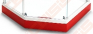 Apdailos plokštė dušo padėklui IDO Showerama 8-5, raudona