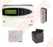 ECL 110 automatikos komplektas:Šildymo reguliatorius su montažine dėžute, AMB 162 pavara, ESMT lauko ir ESM-11 paviršinis jutikliai