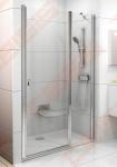 Varstomos dušo durys RAVAK CHROME CSD2-110 su blizgia apdaila ir skaidriu stiklu