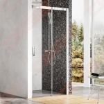 Dušo durys Ravak MSD2-110L blizgiu profiliu, skaidriu stiklu