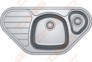 Plautuvė Franke SKX651-E su ekscentriniu ventiliu, indas