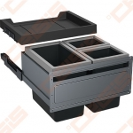Šiukšliadėžė FRANKE FX 60, 26L + 2x11L