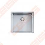 """Nerūdijančio plieno plautuvė FRANKE Box BXX 210/110-45 su 3.1 /2"""" integruotu  ventiliu, paspaudžamu mygtuku"""