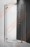Pusapvalė dušo kabina ROLTECHNIK ELEGANT LINE GRP1/1000 su vieno elemento atveriamomis durimis, brillant spalvos profiliu ir skaidriu stiklu