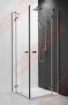 Vieno elemento varstomos dušo durys ROTH ELEGANT LINE GDOP1/90 su brillant spalvos profiliu ir skaidriu stiklu (dešinė)