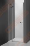Vieno elemento varstomos dušo durys ROTH ELEGANT LINE GDNL1/100, skirtos montuoti į nišą, su brillant spalvos profiliu ir skaidriu stiklu (kairė)