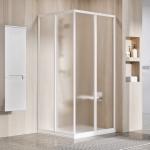 Durys dušo Ravak  SRV2-80 195 cm. Baltos spalvos profiliu ir grape stiklu