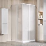 Dušo durys Ravak  SRV2-90 195 cm. Baltos spalvos profiliu ir pearl plastiko užpildu