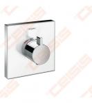 Dekoratyvinė dalis potinkiniam termostatiniam maišytuvui HANSGROHE Select Highflow, baltas stiklas