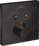 Dekoratyvinė dalis potinkiniam termostatiniam dušo maišytuvui HANSGROHE Select 2 taškai, juodos matinės spalvos