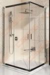 Dušo durys  RAVAK Blix BLRV2K-100 su  blizgiu profiliu ir skaidriu  stiklu