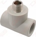 Trišakis FV-PLAST PPR (su metaliniu sriegiu; vidus / išorė / vidus)