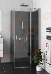 Varstomos dušo durys ROTH LZDO1 900 su brillant spalvos profiliu ir skaidriu stiklu