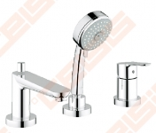 Vonios / dušo maišytuvas GROHE Bau Edge 3 dalių, iš vonios krašto