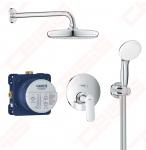 GROHE Eurosmart Cosmopolitan Perfect dušo rinkinys su Tempesta 210 lietaus galva ir rankiniu dušeliu