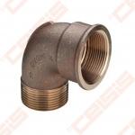 Bronzinė 90° alkūnė VIEGA 92