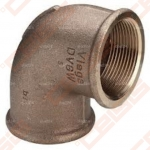 Bronzinė 90°alkūnė VIEGA 90