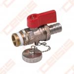 """Žalvarinis chromuotas (matinis) SLOVARM KE-271 išleidimo ventilis Dn1/2"""""""