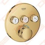 Dalis dekoratyvinė potinkinio maišytuvo Grohe GRT SmartControl apvali 3 taškų, aukso spalva