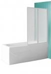 Sulankstoma vonios sienelė CH2/100 su baltos spalvos profiliu ir plastiko bark užpildu
