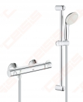 GROHE Grohtherm 800 termostatinis maišytuvas su GROHE Tempesta dušo sistema (100 mm rankinis dušas, 600 mm rėmas ir 1750 mm dušo žarna)