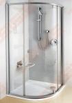Pusapvalė dušo kabina RAVAK PIVOT PSKK3-80 su skaidriu stiklu (radius 500)
