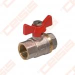 "Žalvarinis chromuotas (matinis) SLOVARM KE-230 rutulinis ventilis Dn1/2"""
