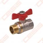"Žalvarinis chromuotas (matinis) SLOVARM KE-240 rutulinis ventilis Dn1/2"""