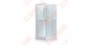 Kvadratinė dušo kabina - dėžė SANIPRO Simple Square  900x900 su padėklu ir sifonu