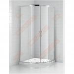 Pusapvalė dušo kabina OBR2 800 brill/trans