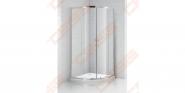 Pusapvalė dušo kabina SANIPRO OBR2 900 su brilliant spalvos profiliu ir skaidriu stiklu