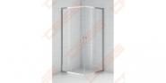 Kvadratinė dušo kabina SANIPRO OBS2 800 su brilliant spalvos profiliu ir skaidriu stiklu