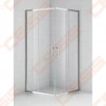 Kvadratinė dušo kabina SANIPRO OBS2 900 su brilliant spalvos profiliu ir skaidriu stiklu