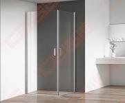 Dušo durys Roth OBCO1/800 blizgiu profiliu, skaidriu stiklu (dušo kabina suformuojama OBCO1/800+OBCO1/800)