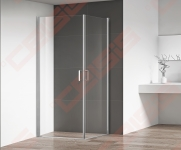 Dušo durys Roth OBCO1/900 blizgiu profiliu, skaidriu stiklu (dušo kabina suformuojama  OBCO1/900+OBCO1/900)