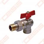 """Žalvarinis chromuotas (matinis) SLOVARM KE-280R rutulinis ventilis su išardoma jungtimi Dn1/2"""""""