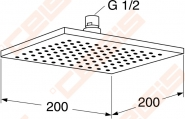 Dušo galva GUSTAVSBERG kvadratinė G1 200 mm