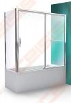Šoninė vonios sienelė ROLTECHNIK PXVB/75 su brillant spalvos profiliu ir skaidriu stiklu