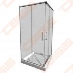 Keturkampė dušo kabina JIKA LYRA PLUS 80x80 su baltos spalvos profiliu ir skaidriu stiklu