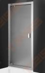 Varstomos dušo durys ROTH ECLUSIVE LINE ECDO1/80 montavimui į nišą su sidabro spalvos profiliu ir satinatu stiklu