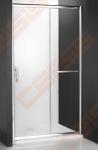 Slankiojančios dušo durys ROTH PROXIMA LINE PXD2N/120, skirtos montuoti į nišą, su brillant spalvos profiliu ir skaidriu stiklu