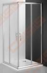 Slankiojančios dušo durys ROTH PROXIMA LINE PXS2L/100 su brillant spalvos profiliu ir skaidriu stiklu (kairė)