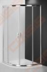 Pusapvalė dušo kabina ROTH PROXIMA LINE PXR2N/90 (aukštis 2000 mm) su dviejų elementų slankiojančiomis durimis, brillant spalvos profiliu ir skaidriu stiklu