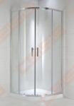 Pusapvalė dušo kabina JIKA CUBITO PURE 80x80 su blizgiu sidrabo spalvos profiliu (radius 540)